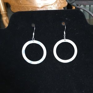 Jewelry - New! Hand Crafted Sterling Acrylic Hoop Earrings